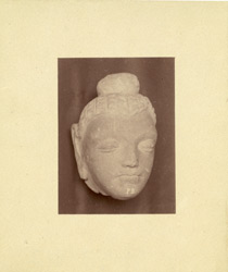 Sculpture fragment: head of a Buddhist statue from Jamal-Garhi. 1003985